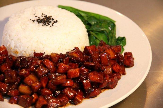 台湾卤肉饭:台湾云林县日前有脚踏车业者为相
