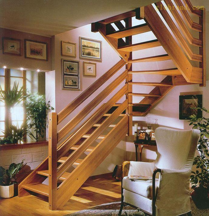 北京实木楼梯护栏扶手定制 整体楼梯玻璃护栏定制 阁楼楼梯